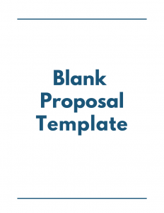 Blank Proposal Template - Proposal Management Software -DocuCollab