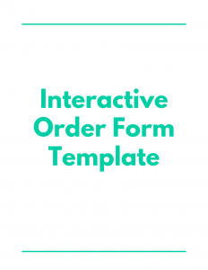 Interactive Order Form Template - Proposal Management Software - DocuCollab