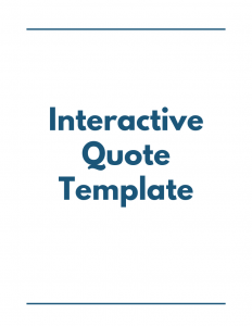 Interactive Quote Template - Proposal Management Software - DocuCollab