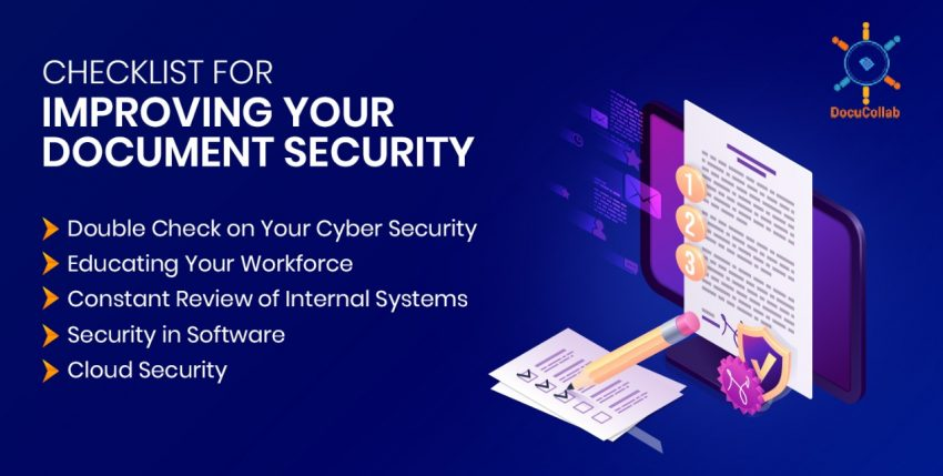 Checklist for Improving Your Document Security